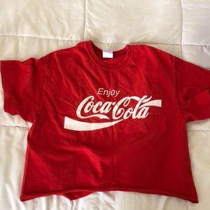 cropped coca-cola t shirt